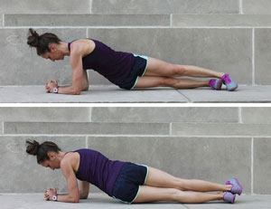 Plank with Hip Twist
