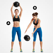 Side-to-side medicine ball slam